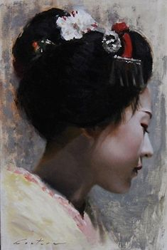 From Gion Kobu -oil painting on canvas geisha art by philcoutureart on DeviantArt