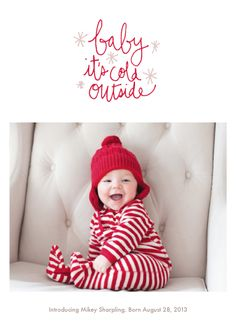 Oh Baby Baby by Jess Taich - Christmas Card, Holiday Card, New Baby Card