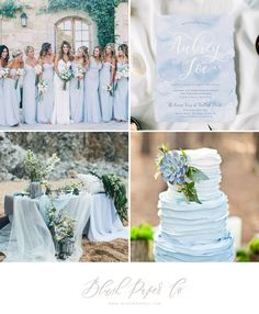 Dusty Blue Wedding Trends | Blush Paper Co.