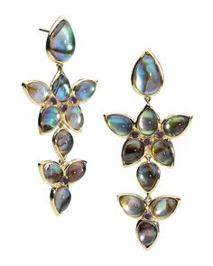 Mariposa Chandelier Cabochon Earrings by Elizabeth Showers at Neiman Marcus Last Call.
