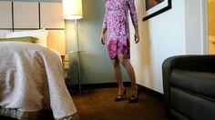 crossdressing on BCBGMAXAZRIA Adele Print Matte Jersey Wrap Dress