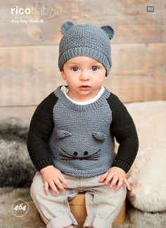 4b42deabb6e Sweaters and Hat in Rico Baby Classic DK - 464 - Downloadable PDF