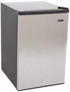 Whynter is a cubic feet capacity Energy Star rated freestanding type upright freezer with an Full Fridge, Small Fridges, Upright Freezer, Chest Freezer, Tiny Studio, Kitchen Storage Solutions, Look Good Feel Good, Stainless Steel Doors, Cubic Foot
