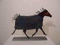 """Jim Dolan """"Blanket Horse"""" Ennis Mt. Artist. Much of Jim's work can be seen around town"""