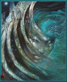 Sedna - Inuit Sea Goddess painting by Susan Seddon Boulet Goddess Of The Sea, Goddess Art, Moon Goddess, Totems, Fantasy Kunst, Fantasy Art, Arte Inuit, Art Visionnaire, Art Magique