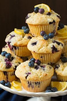 Bakery Style Lemon Blueberry Muffins   Cooking Classy