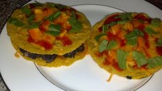 Not So Naughty Mexican Pizza  Two Mexican pizzas for less calories than one of the fast food recipe and more flavor!!