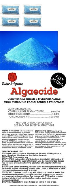 Pool Mate 1 2190 Black Algaecide For Swimming Pools 1 Quart