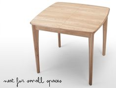 Neat for small spaces. #diningtable #smallspaces From made.com