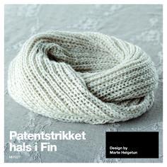 Patentstrikket hals i Fin - Design by Marte Helgetun