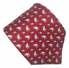 Allyn Silk Necktie Republicans Elephants Flags Convention 60.5 by 3.75 Inches #Allyn #Tie