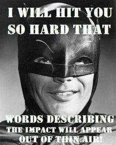 I love the batman show. Adam West is the best batman ever! I Am Batman, Superman, Batman 1966, Batman Stuff, Batman Art, Batman Room, Lego Batman, Nananana Batman, Dc Memes