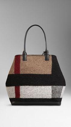 Medium Check Blanket Tote Bag