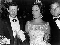 Elizabeth Taylor y el productor de cine y Eddie Fisher