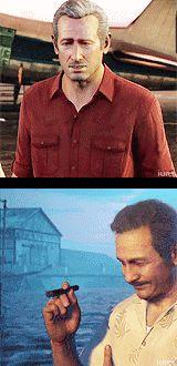 "iures: "" ""Victor Sullivan through the years [ Nathan Drake version ] [ Elena Fisher version ] "" "" Victor Sullivan, Sir Francis, Nathan Drake, Best Games, Video Games, Gifs, Gaming, Videogames, Videogames"