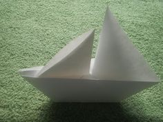 Origami Tutorial: Origami Sailboat that floats- YouTube