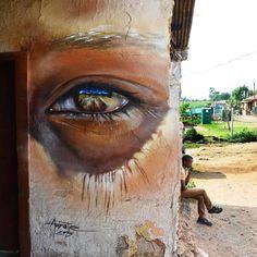 By Adnate #streetart #eye #soweto #johannesburg #southafrica