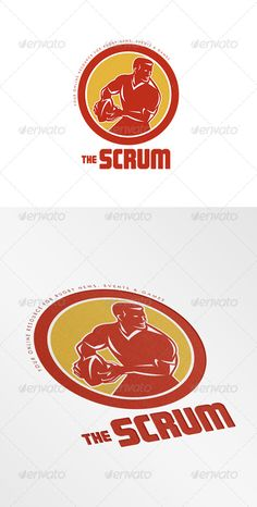 The Scrum Rugby News Logo — Vector EPS #male #rugby • Available here → https://graphicriver.net/item/the-scrum-rugby-news-logo/8754757?ref=pxcr
