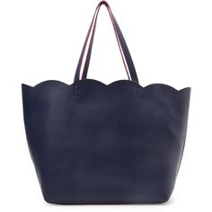 Deux Lux Navy Leyla Tote ($30) ❤ liked on Polyvore featuring bags, handbags, tote bags, totes, accessories, blue, handbags totes, navy blue tote bag, faux leather tote bag and leather tote handbags