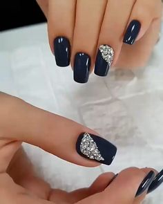 Glamour Nails, Classy Nails, Stylish Nails, Simple Nails, Trendy Nails, Elegant Nails, Square Nail Designs, Elegant Nail Designs, Cute Acrylic Nails
