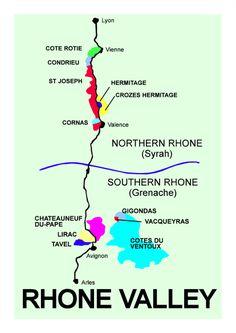 cote du rhone (provence) - appellations