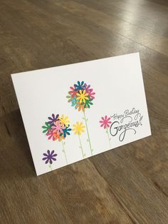 Card - Happy Birthday Gorgeous with flowers £3.20