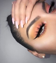 Makeup Eye Looks, Cute Makeup, Glam Makeup, Pretty Makeup, Skin Makeup, Makeup Inspo, Eyeshadow Makeup, Makeup Art, Makeup Inspiration