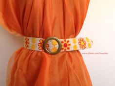 Hippie Belt with Large Solid Brass Buckle  by Hoopties, $19.00 USD