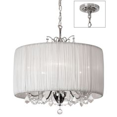 5-light Polished Chrome/ Crystal Chandelier | Overstock.com Shopping - The Best Deals on Chandeliers & Pendants