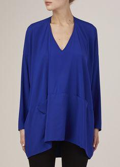 Zero + Maria Cornejo Long-Sleeve Tasi Top (Yves Blue)