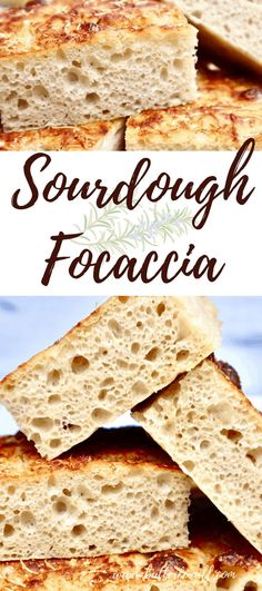 "This recipe for Soft Sourdough Focaccia is the perfect way to feed a crowd! This recipe makes a whole half sheet pan (18""x13"") or two 8"" cast iron skillets worth. It is great for dipping in oil and balsamic vinegar, makes great sandwiches, open-face pizza bread, croutons, bread crumbs and more! #sourdough #focaccia #starter #bread #organic #soft #chewy #oliveoil #evoo #rosemary #garlic #Parmesan #wildyeast #fermented #realfood #masamadre #easy #homemade #opencrumb #sheetpan #castiron…"