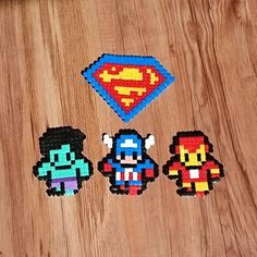 Small things to relax :) #marvel #shield #hulk #captainamerica #ironman #dc #superman #Comics #pixelart #8bit #beads #comic #retro #superhero