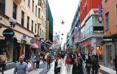 Calle Peatonal Drottninggatan.(De la Reina).Estocolmo-Suecia-P. Vicari.(...