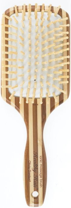 Olivia Garden Healthy Hair - Ionic Massage Bamboo Hair Brush. Good for wigs and weaves. A good paddle brush is a girls best friend.
