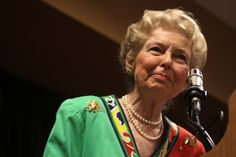 Phyllis Schlafly speaking at Steve King's Conservative Policies conference in Des Moines, Iowa. March 26, 2011  Photo: Gage Skidmore