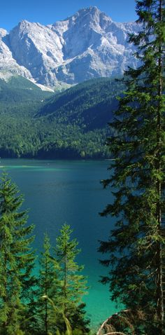 Lake Eibsee in Bavaria, Germany. I was lucky enough to have visited here when my Dad was stationed in Germany.