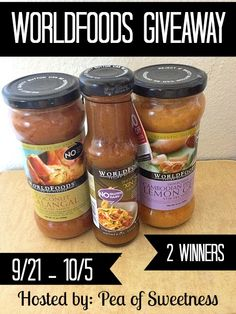 WORLDFOODS Giveaway - 2 winners! (ends 10/5)