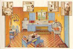 Vintage Kitchen with GE Wiring - 1929