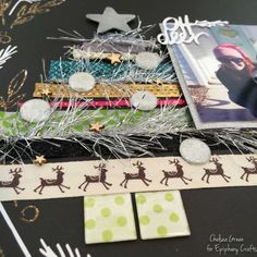 #scrapbook #layout created with the #epiphanycrafts Shape Studio Tools Round 14 and Square. #christmas www.epiphanycrafts.com