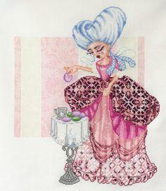 Marie-Antoinette avec sa tête à l'étape 5 <3