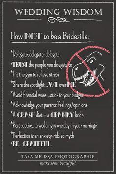Avoiding Becoming A Bridezilla