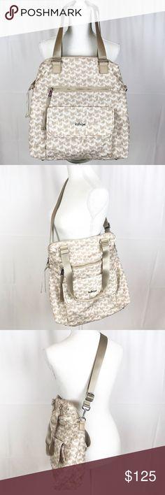 387a272aa55 Kipling Commuter Camryn Bag-Laptop Bag-Optic Beige In EUC Kipling  lightweight laptop handbag