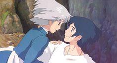 '- Howl: Estou muito mal, como se tivesse um grande peso no peito...  - sophie: Um coração é um fardo pesado'  (' O castelo ambulante' de hayao miyazaki,)