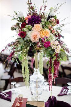 tall floral centerpieces @weddingchicks