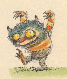 Esboço de Maurice #Sendak para Where the Wild Things Are
