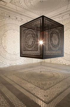 This modern lighting design is adorned with amazing lace patterns inspired by Islamic decorations. It is called Intersections and create fascinating shades on the floor and walls, decorating interiors in an elegant and surprising way. Lushome presents this unique lighting design project developed by
