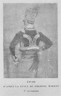 Etude d'apres la tenue du Colonel Marbot 7e Hussards