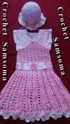 طريقة كروشيه فستان لاي مقاس      crochet baby dress    Crochet Dress Girl     crochet kids dress  كروشيه فستان صيفى سهل وبسيط لأى مقاس  طريقة كروشيه فستان بنوتة     كروشيه فستان  كروشيه Crochet Dress Girl, Crochet Baby, Summer Hats, Girls Dresses, Fashion, Blouses, Bebe, Dresses Of Girls, Moda