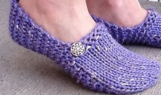 Bulky knit slippers on ravelry