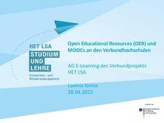 Open Educational Ressources (OER) und MOOCs an den Verbundhochschulen HET LSA